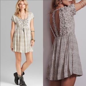Free People Sundown Babydoll Dressing Gray